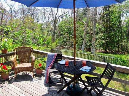 Vineyard Haven Martha's Vineyard vacation rental - Spacious, sunny, private back deck