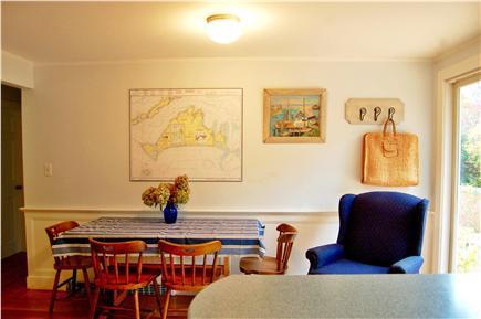 Vineyard Haven Martha's Vineyard vacation rental - Dining area adjacent to kitchen and back deck