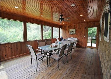 Edgartown Martha's Vineyard vacation rental - Outdoor patio for magical dinners & gatherings on cozy furniture