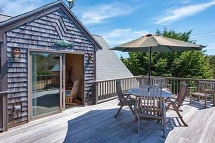 Edgartown Martha's Vineyard vacation rental - Upstairs Deck. Perfect for soaking up the sun and stargazing!