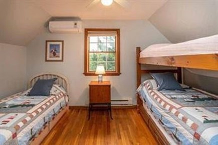 Edgartown Martha's Vineyard vacation rental - Upstairs bdrm w/ 3 twins & trundle. Watch llamas from window!