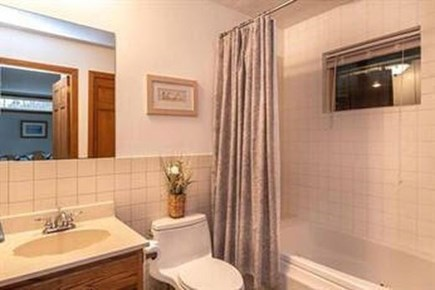 Edgartown Martha's Vineyard vacation rental - Downstairs full bath with tub.