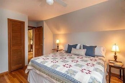 Edgartown Martha's Vineyard vacation rental - Upstairs bedroom with king bed.