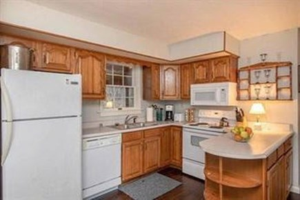 Edgartown Martha's Vineyard vacation rental - Kitchen facing out to the screened-in porch.