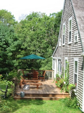 West Tisbury - Lamberts Cove a Martha's Vineyard vacation rental - West side of house & deck