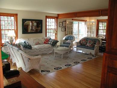 West Tisbury - Lamberts Cove a Martha's Vineyard vacation rental - Living room from front door