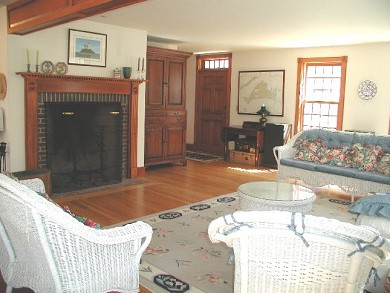 West Tisbury - Lamberts Cove a Martha's Vineyard vacation rental - Living room from french door