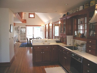 West Tisbury - Lamberts Cove a Martha's Vineyard vacation rental - Kitchen & dining room from kitchen table