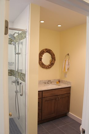 Edgartown Martha's Vineyard vacation rental - Totally new downstairs Full Bath. Large tiled shower