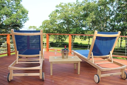 Edgartown Martha's Vineyard vacation rental - Relax with a coffee or wine on your private Master Deck