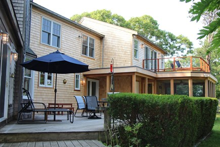Edgartown Martha's Vineyard vacation rental - Expansive Rear Deck for BBQing and relaxing, with water view