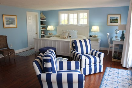 Edgartown Martha's Vineyard vacation rental - King Master Suite w/sitting area, Smart TV, large private balcony