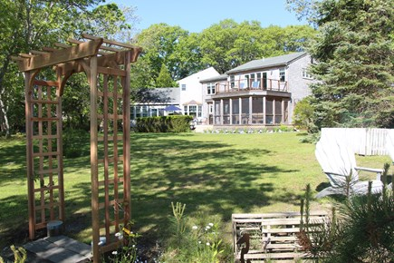 Edgartown Martha's Vineyard vacation rental - View of rear of the house from the island