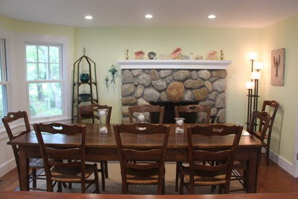Edgartown Martha's Vineyard vacation rental - Expansive Dining Room seats 10 around antique French table