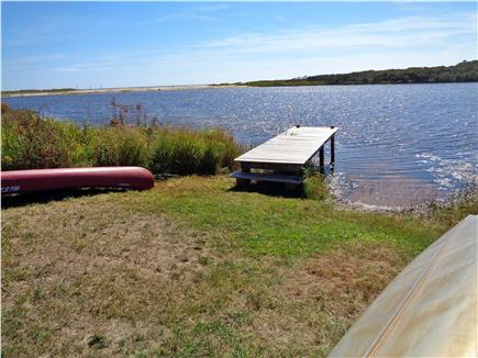 Chilmark Martha's Vineyard vacation rental - Our dock for easy access by provided canoe to Lucy Vincent Beach