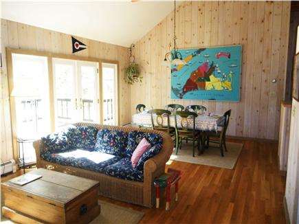 Chilmark Martha's Vineyard vacation rental - Dining area opening through French doors to the large deck