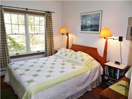 Off Middle Road, Chilmark Martha's Vineyard vacation rental - Guest bedroom #1 , also with ceiling fan and cross ventilation