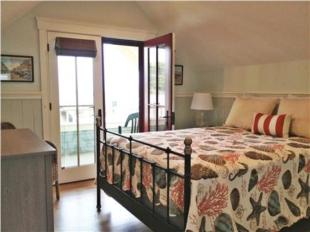 Oak Bluffs Martha's Vineyard vacation rental - Master Bedroom with Queen size Bed & Covered Porch