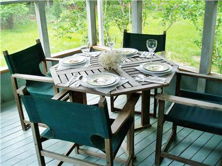 Katama - Edgartown, Edgartown Martha's Vineyard vacation rental - Screened porch