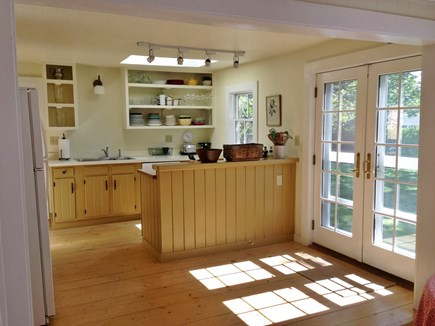 Oak Bluffs Martha's Vineyard vacation rental - Full kitchen, French doors to side yard