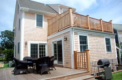 Edgartown Martha's Vineyard vacation rental - Outdoor dining on deck with gas grill