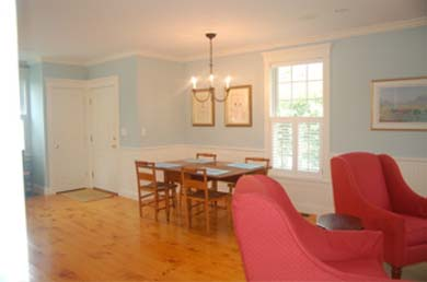 Edgartown Martha's Vineyard vacation rental - Dining area with pine floors