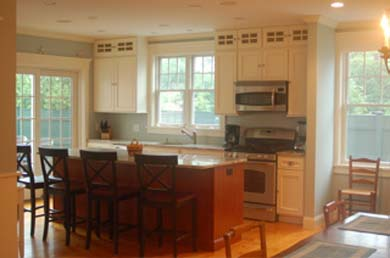 Edgartown Martha's Vineyard vacation rental - Beautiful Kitchen with glass doors to open deck