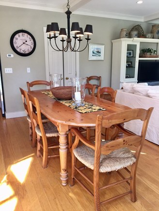 Edgartown Martha's Vineyard vacation rental - Large Dinning Table seats 10  Outdoor dinning 2 teak sets seat 14