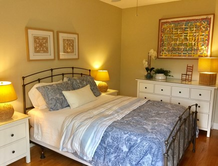 Edgartown Martha's Vineyard vacation rental - 1st Floor Queen Guest Bedroom with ensuite bath opens to patio