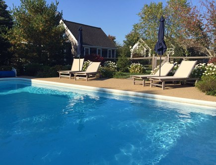 Edgartown Martha's Vineyard vacation rental - Solar Heated Mineral Salts Pool shared with Main and Guest House