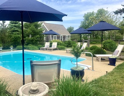 Edgartown Martha's Vineyard vacation rental - Heated Saltwater Pool  Gated with full bath/cabana