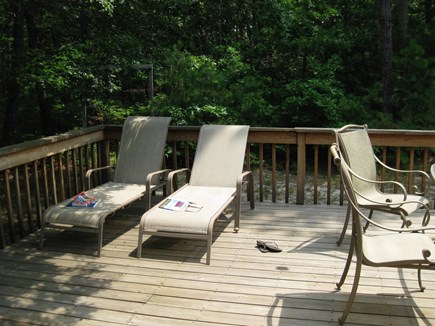 Vineyard Haven Martha's Vineyard vacation rental - Private deck is fully furnished with table, chairs & Weber Grill