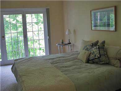 Vineyard Haven Martha's Vineyard vacation rental - Private Master Bedroom with king-size bed overlooks the woods