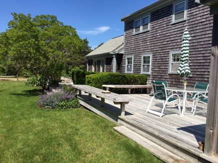 Katama - Edgartown, Edgartown,Katama    1.5 miles  Martha's Vineyard vacation rental - The south facing deck
