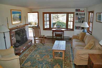 Katama - Edgartown, Edgartown,Katama    1.5 miles  Martha's Vineyard vacation rental - Living room