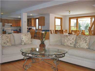 Oak Bluffs Martha's Vineyard vacation rental - View of kitchen and dining area from another sitting area