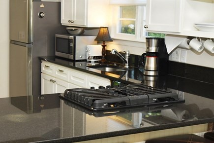 Vineyard Haven Martha's Vineyard vacation rental - Kitchen with 5 burner cooktop, new stainless steel refridgerator