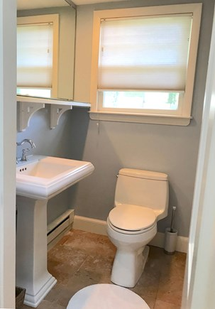 Vineyard Haven Martha's Vineyard vacation rental - Full bath with tub, Kohler fixtures, marble flooring.
