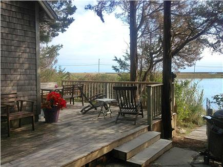 Oak Bluffs Martha's Vineyard vacation rental - large porch with views of the pond and ocean