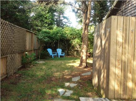 Oak Bluffs Martha's Vineyard vacation rental - Fenced-in private side-yard with grill, sm. deck & outdoor shower