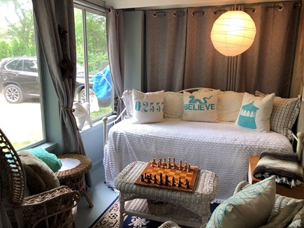 Oak Bluffs Martha's Vineyard vacation rental - Comfy screened-in porch. Perfect for curling up with a book.