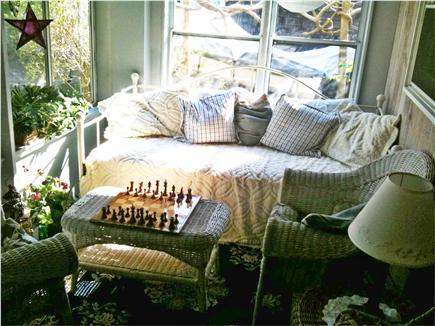 Oak Bluffs Martha's Vineyard vacation rental - Comfy screened-in porch.