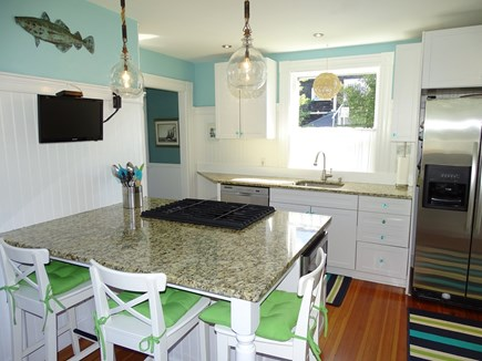Vineyard Haven Martha's Vineyard vacation rental - Kitchen with granite counter-tops & stainless-steel appliances