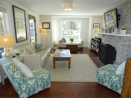 Vineyard Haven Martha's Vineyard vacation rental - Living Room with leather sofa, flat screen TV and daybed