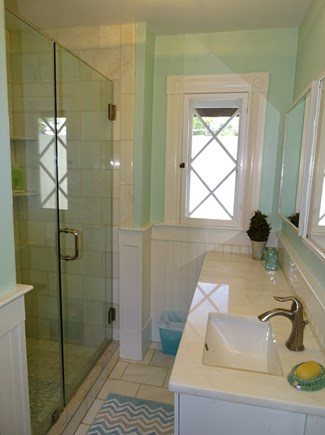 Vineyard Haven Martha's Vineyard vacation rental - Upstairs bathroom with walk in glass shower