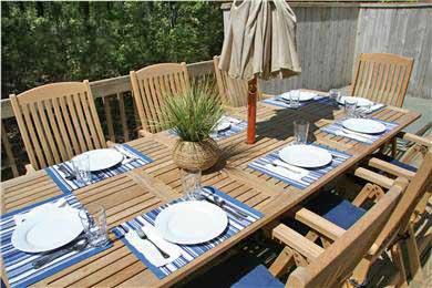 Edgartown Martha's Vineyard vacation rental - Deck with New Dining Set