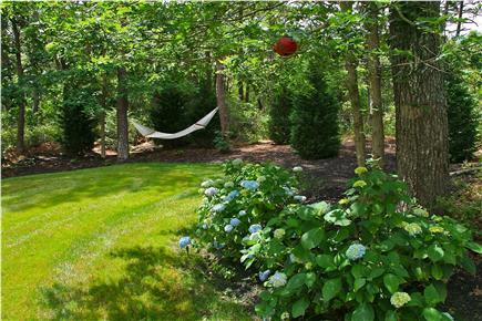Edgartown Martha's Vineyard vacation rental - Backyard with Hammock