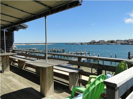 Oak Bluffs Martha's Vineyard vacation rental - Deck facing Oak Bluffs harbor, seating for eight happy people