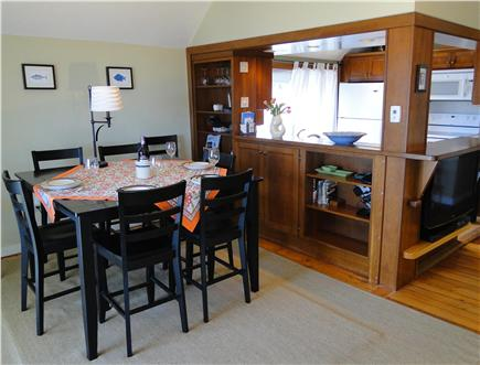 Oak Bluffs Martha's Vineyard vacation rental - Dining table, opens to kitchen