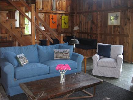 West Tisbury Martha's Vineyard vacation rental - Spacious, bright great room has a pull-out sofa (double/full bed)